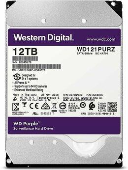 Внутренние жесткие диски - Жесткий диск WD Purple WD121purz, 12ТБ, 0
