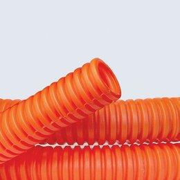 Кабеленесущие системы - Труба гофрированная ПНД 25 мм DKC с протяжкой, оранжевая (50 м), 0