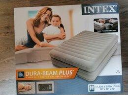 Надувная мебель - Двухспальная надувная кровать Intex Prime Comfort, 0