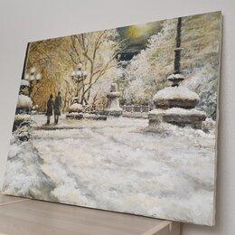 """Картины, постеры, гобелены, панно - Картина маслом """"Зимний вечер"""" авторская работа, 0"""
