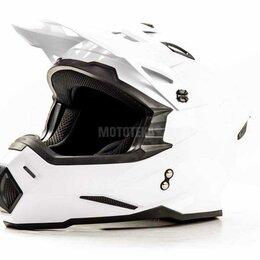 Мотоэкипировка - Шлем мото HIZER (Хайзер) J6801 (XL) #2 white, 0