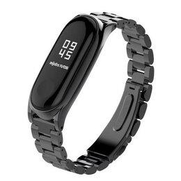 Чехлы - Браслет для Xiaomi Mi Band 3 (металл черный), 0