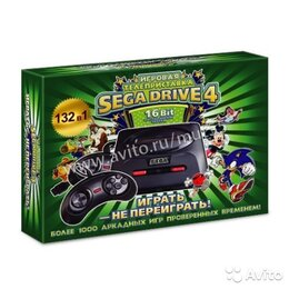 Ретро-консоли и электронные игры - Sega Super Drive 4 (132-in-1), 0