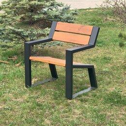 Скамейки - Кресло-скамья садово-парковое с подлокотниками «Mountain» 740, термососна, 0