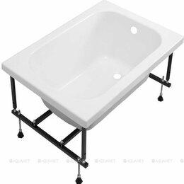 Ванны - Ванна акриловая Aquanet 100х70 с ножками, 0