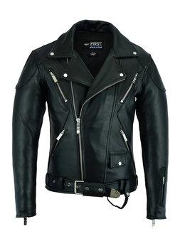 Куртки - First M 283 CC косуха мужская кожаная, 0