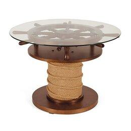 Столы и столики - оригинальный Журнальный столик ШТУРВАЛ, 0