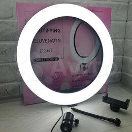 Осветительное оборудование - Кольцевая лампа 31 см + штатив 2м, 0