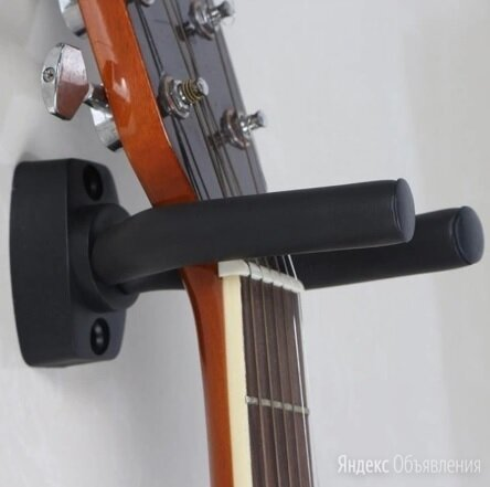 Настенный держатель для гитары и укулеле по цене 500₽ - Аксессуары и комплектующие для гитар, фото 0