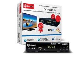 ТВ-приставки и медиаплееры - Цифровой приемник ТВ DVB-T2 D-Color DC1002HD, 0