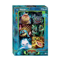 Игровые наборы и фигурки - Пазл 160 элементов «Как приручить дракона - 3», 0