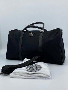 Дорожные и спортивные сумки - Дорожная сумка Versace текстиль черная…, 0