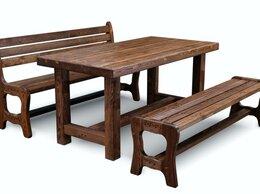 Столы и столики - Стол Ирбея 180х80 для сауны, 0