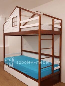 Кроватки - Двухъярусная кровать домик с окошком, 0