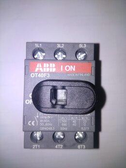 Электрические щиты и комплектующие - ABB OT40F3 Рубильник 3Р 40А с ручкой управления, 0