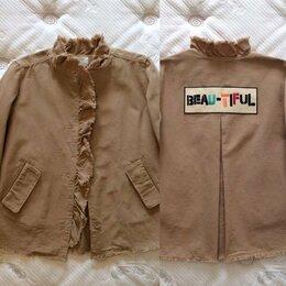 Куртки и пуховики - Zara beautiful легкая бежевая куртка, хлопок ок…, 0