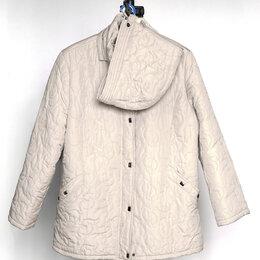 Куртки - Женская демисезонная куртка большого размера с капюшоном, 0