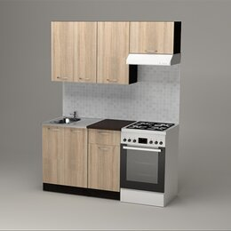 Мебель для кухни - Кухня. Кухонный гарнитур Сабрина нормал 1500, 0
