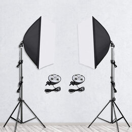 Фотовспышки - Софтбоксы 2шт+стойки 2шт + переноска, 0