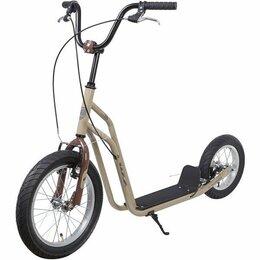 Велосипеды - Самокат внедорожный Foxx (Фокс) City Line, бежевый, 0