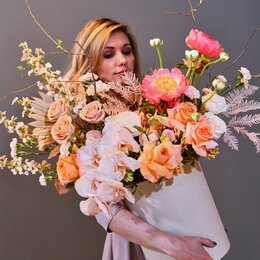 Цветы, букеты, композиции - Композиция в коробке «Роскошный праздник» XXL - (60см), 0