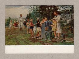 Открытки - Открытка СССР. Детский сад. Овчаров, 1954,…, 0