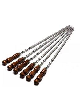 Шампуры - Шампур с деревянной ручкой , 0