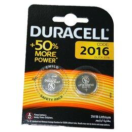 Батарейки - Элемент питания литиевый Duracell CR2016 (блистер/2шт), 0