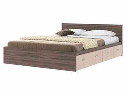 Кровати - Кровать Ронда 1600*2000 с ящиками ясень темный -…, 0