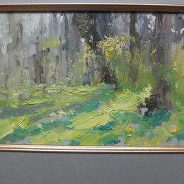 Картины, постеры, гобелены, панно - картина Майский Лес,картон,масло, 0