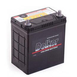 Аккумуляторы и комплектующие - Аккумулятор автомобильный Delkor 6CT-40 (46B19L) 40АЧ 370А Обратная полярность, 0