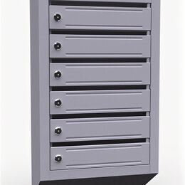 Почтовые ящики - Почтовый ящик многоквартирный 6 секций (ЭК6), 0
