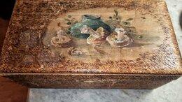 Шкатулки - Сундуки деревянные резные старинные 2 штуки, 0