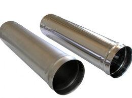 Дымоходы - Труба дымохода 110.115.120 мм (нерж. 1 мм) -1м, 0