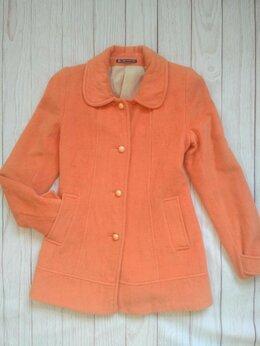 Пальто - Пальто персиковое 42 размера, 0