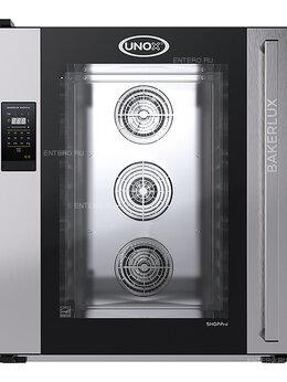 Жарочные и пекарские шкафы - Печь конвекционная UNOX XEFT-10EU-EGLN без…, 0