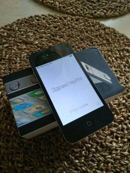 Мобильные телефоны - Смартфон iPhone 4 16 Gb черный, 0