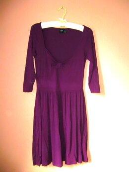 Платья - Фиолетовое платье с декольте ASOS р.44-46, 0