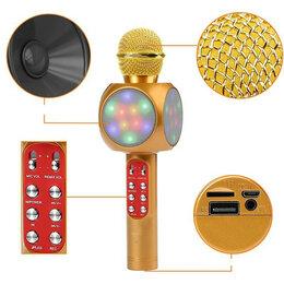 Микрофоны - Беспроводной микрофон WS-1816 с LED-подсветкой, 0