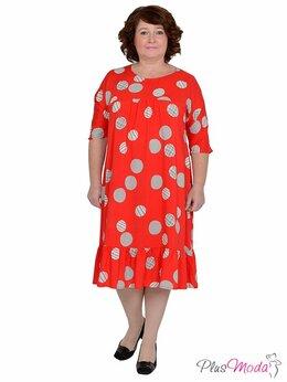 Футболки и топы - Платье из штапеля больших размеров №632, 0