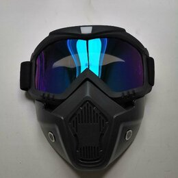 Спортивная защита - Модульная маска-очки. Подходит под шлем, 0