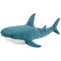 Мягкие игрушки - Плюшевая Акула метровая , 0
