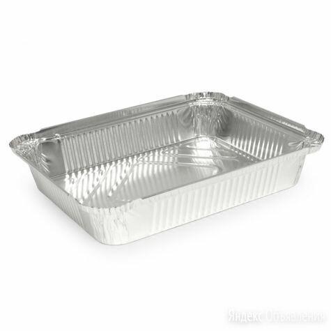 Алюминиевая форма прямоугольная объем 1040мл L-край 25 шт по цене 252₽ - Посуда для выпечки и запекания, фото 0