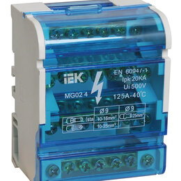 Электрические щиты и комплектующие - Шины на DIN-рейку в корпусе (кросс-модуль) ШНК 4х7 3L+PEN IEK, 0