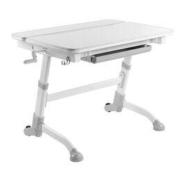 Компьютерные и письменные столы - Парта детская на колесиках серая Volare Grey, 0