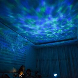 """Ночники и декоративные светильники - Ночник проекция на потолок """"свечение волн океана"""", 0"""