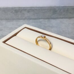 Кольца и перстни - Золотое кольцо с камнем 585пр размер: 16, вес 1,51, 0