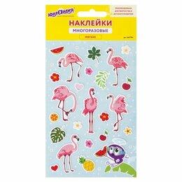 Интерьерные наклейки - Наклейки зефирные «Фламинго», многоразовые,…, 0