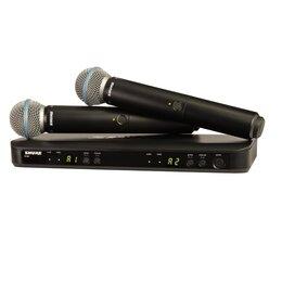 Радиосистемы и радиомикрофоны - SHURE BLX288E/B58 M17 двухканальная вкальная…, 0