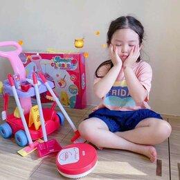 Игрушечная еда и посуда - Детский игровой набор с пылесосом и музыкой «Большая Уборка», 0